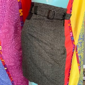 Dalia Collection Business Skirt Size 8 Gray Tweed